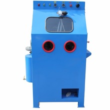 Water sand blasting machine for metal parts