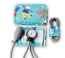 Medical supply palm type of aneroid sphygmomanometer for children.