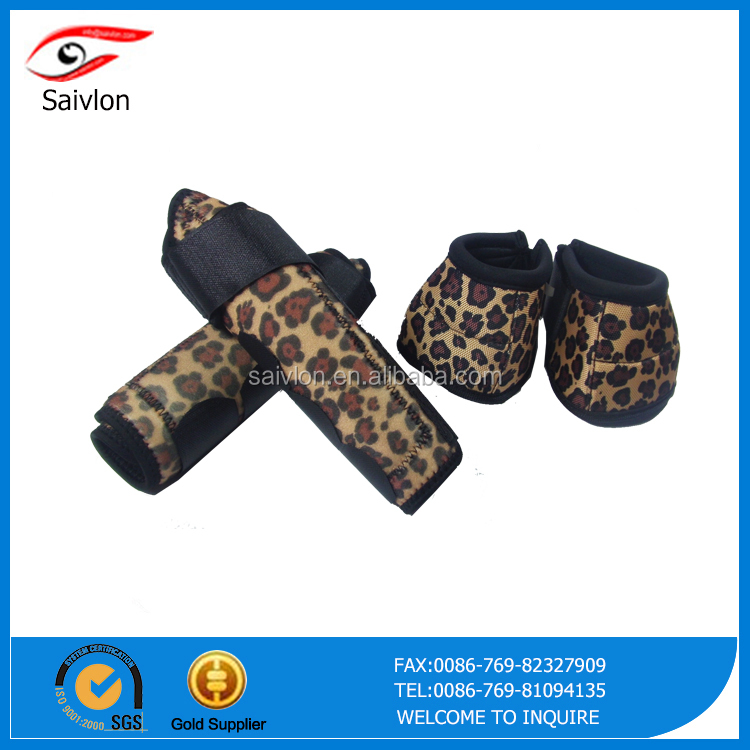 One Set Neoprene Print Horse Tendon Boots Bell Boots/ Horse Equipment