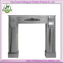 European FSC MDF Fire Surround Set/ Shabby Fireplace Suite With Stock/ wood surrounder fireplace