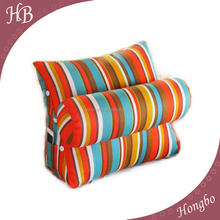 Hot sale cotton sofa floor backrest triangle cushion