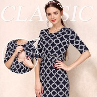 Maternity nursing evening dress breastfeeding clothes fashion comfortable casual dress for pregnant women