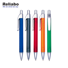 Reliabo Imported China New Design Custom Advertising Slogan Promotional Plastic Ball Pens