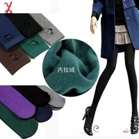 Free shipping TTHR19 Fall and winter plus thick velvet pantyhose step foot nine sub-Leggings