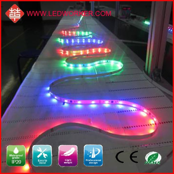 High Lumens TM1809 30LED/M Digital Addressable Rgb Led Strip DC5V 9W IP20 From Ledworker