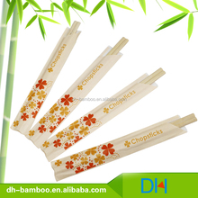 Chinese Wholesale 21/ 24cm Customised Wrapped Disposable Sushi Tensoge Chopsticks Bulk In Bamboo