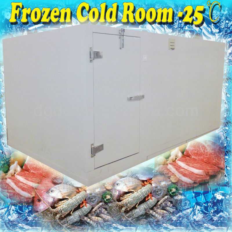 Meat storage freezer room with -25 degrees