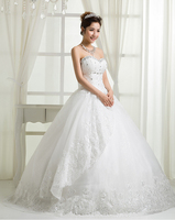 RR2689 huqiu factory beautiful fit-n-flare puffy tulle skirt bridal real sample wedding dress from china