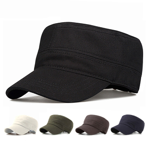 1cfe3e45bf6 wholesale high quality stylish blank plain flat top military caps and hats  army  cap hat