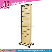 MX-WCL061 mdf wooden slatwall display stand for shop