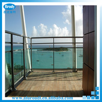 Price parapet glass railing glass balcony railing