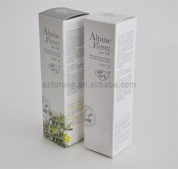 Recycle custom face lotion small cosmetic packaging paper gift box