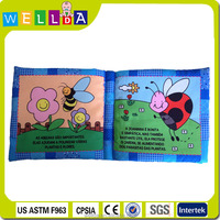 2015 hot sell high quality brand cloth book for baby brain development