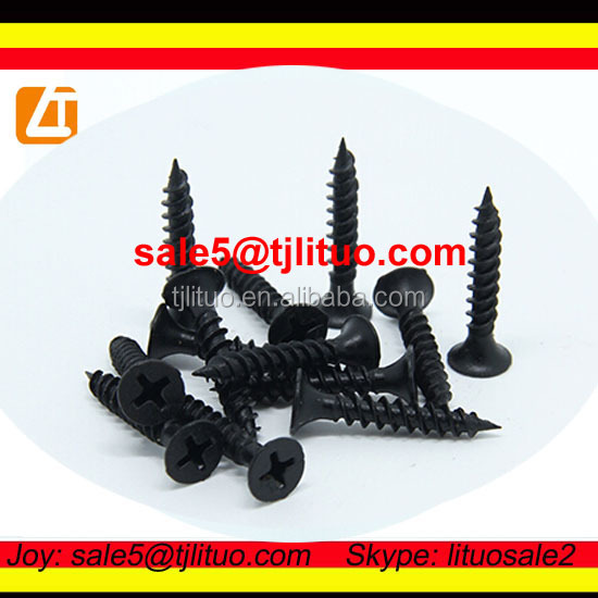 philips #2 bugle head dry wall screws black phosphated