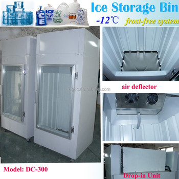 Indoor Ice bin with auto defrost system