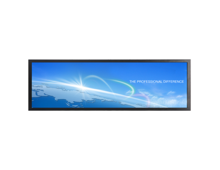 ultra wide display bar stretched lcd display digital signage