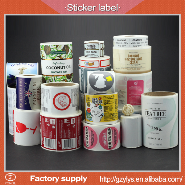 Custom supermarket shelf self adhesive sticker labels