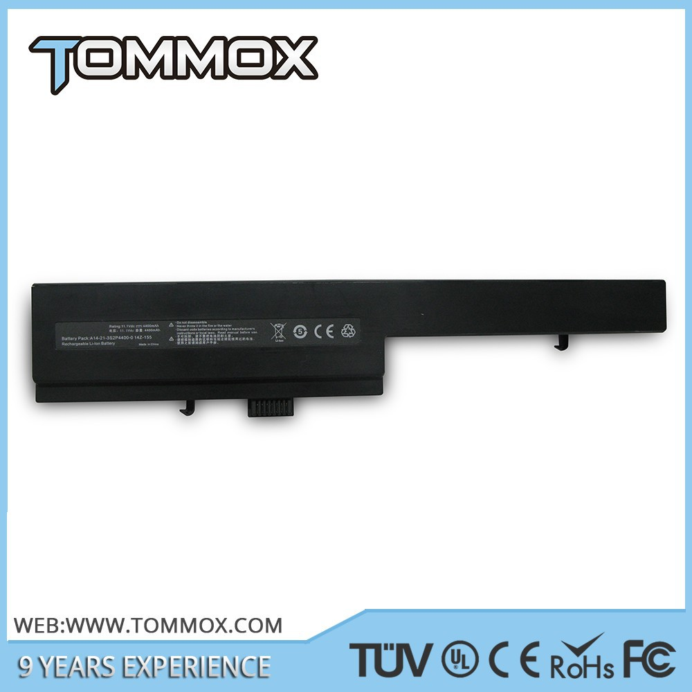 4400mAh 6 cells laptop battery for Dell 14Z-155 Advent Sienna 300 500 510 700