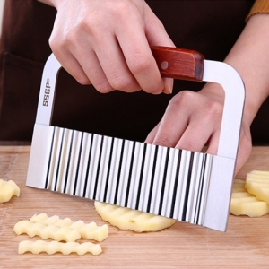 Stainless Steel Fruits Vegetables Wave Shaped Cutting Creative Cut Tool stainless steel kitchenware