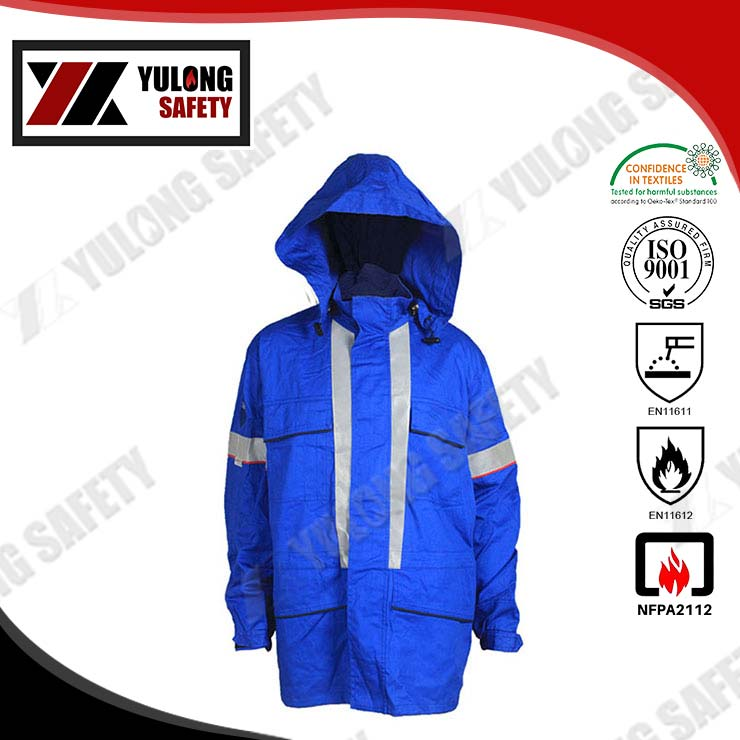 Washable 100% Cotton Soft Fireproof Jacket For Factory