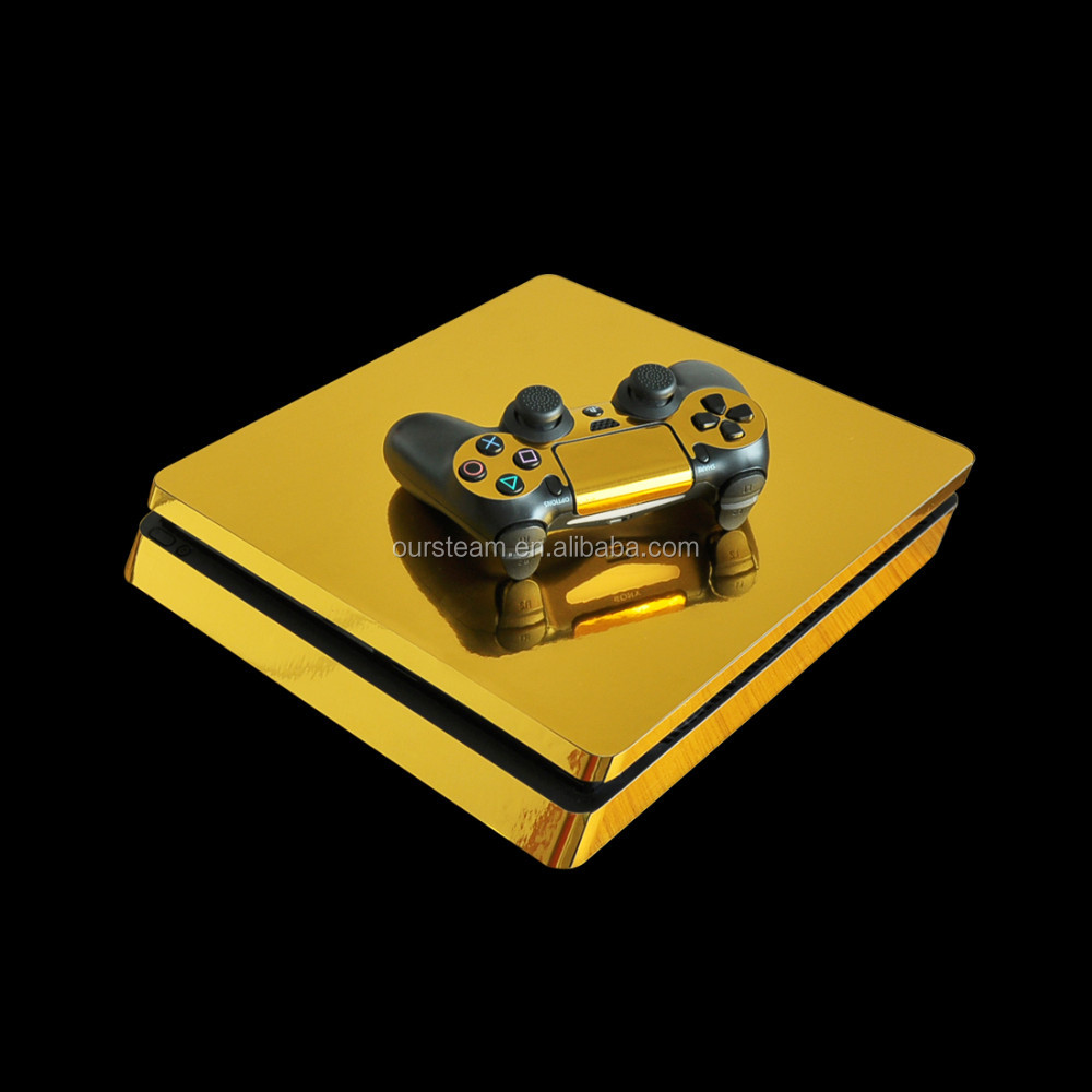 Chrome Vinyl Raised Decal Skin Sticker for PS4 Slim Console and Controller