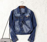2017 new designs women jean jacket Europe fashion denim ladies coat