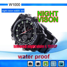 IR Night Vision Surveillance gadgets HD hidden video camera watch cctv cameras,digital watch camera W1000
