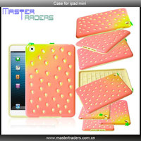 3D Red Strawberry Style Plastic Silicon Combination Case for iPad mini MT-1292
