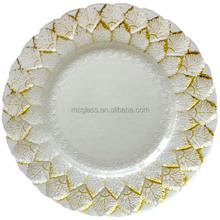 clear cheap glass under plates decorative turkish glass plates for wedding