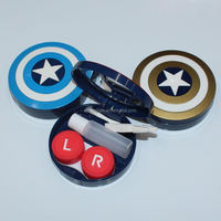 American Captain Plastic Custom Cute Contact Lens Case