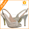 Transparent Mesh Cloth Low Heel Wholesale Bridal Wedding Shoes