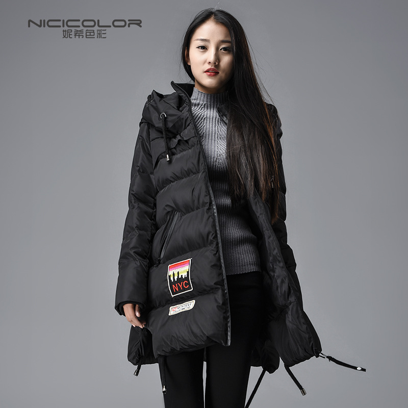 2016 New fashion winter women's coats Korean clothes cotton-padded jacket long hooded large cloth plaid cotton down jacket C211