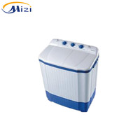 Solar system powered glass lid twin tub 12v dc washing machine