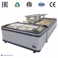 Commercial Glass Top Chest Freezer With Coating Tempered Low-e Glass Door