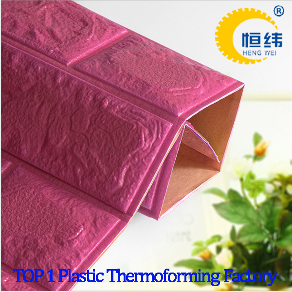 Wallpaper Decoration 3D Brick PE Foam Wall Stickers factory