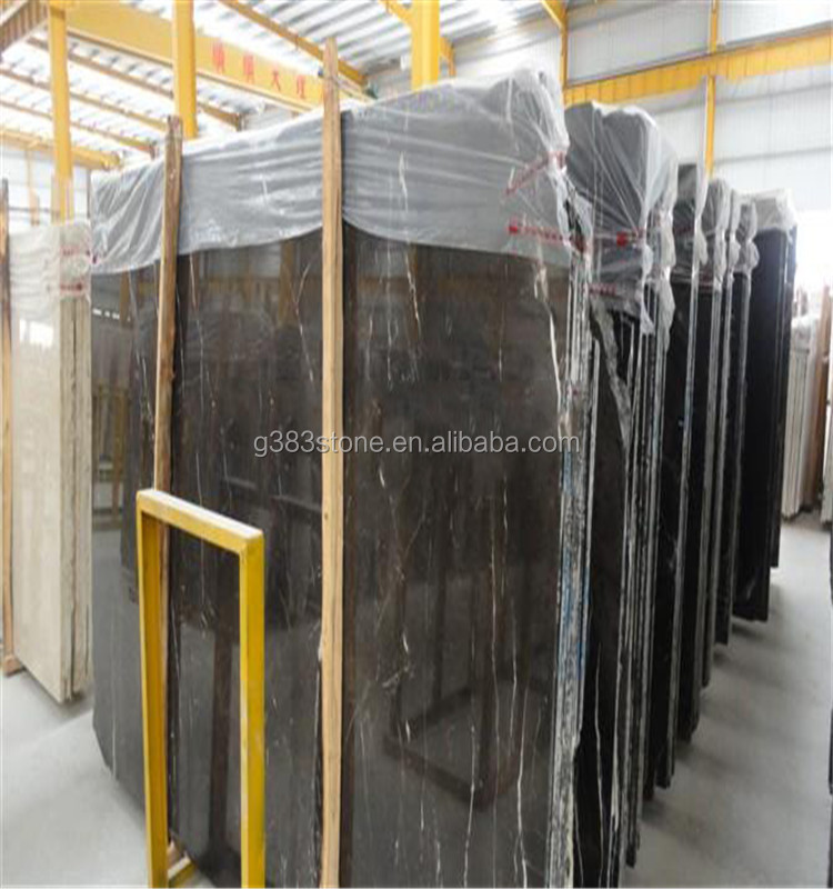 Hot sale marble honed nero marquina black marble tile