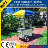 New Style Mobile stainless steel hot dog cart/CE ISO UL EEC hot dog cart/food vending hot dog cart