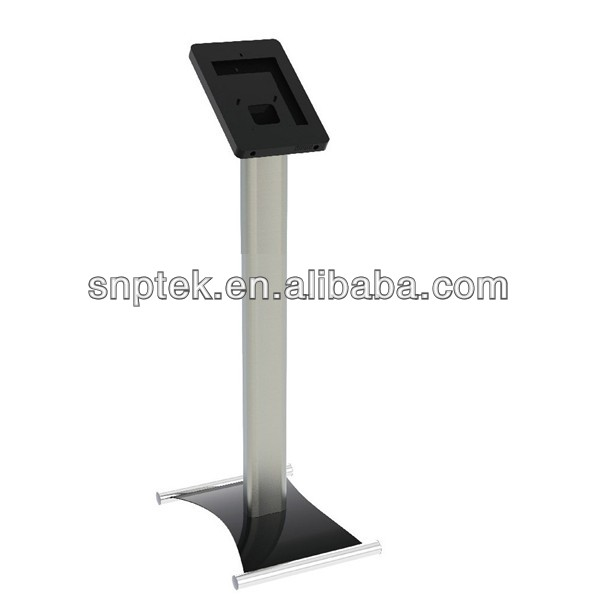 Floor stand for ipad kiosk dispaly case with lock stand for ipad kiosk lock case for ipad 1/2/3/4