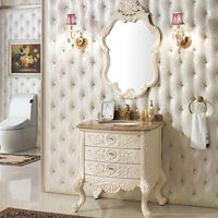 Solid Wood Bathroom Space Saver Cabinet