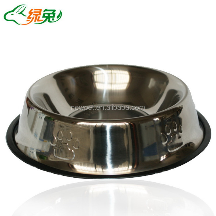 Wholesale retail stylish design non slip stainless steel bowl hot selling black bowl pitched pet dog