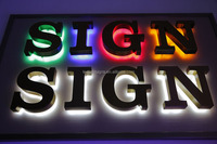 dazzling LED lighted up aluminum channel letter coil ada bathroom sign indoor decorative used