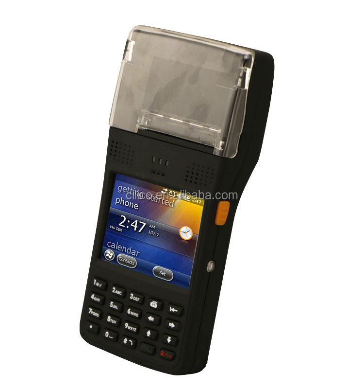 pda with thermal printer windows mobile OS, gprs , rfid reader ,barcode scanner
