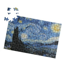 Latest mini paper jigsaw puzzle in plastic tube packaging with Holland imported blue cardboard