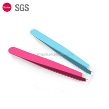 Sofeel Stainless Steel Precision Slant Tip Eyebrow Tweezers for Hair Removal