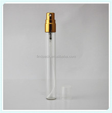 3.5ml glass perfume bottle with aluminum shine screw pump