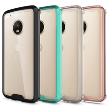 Clear TPU PC Shockproof Case For Moto G5 plus Rugged Cover