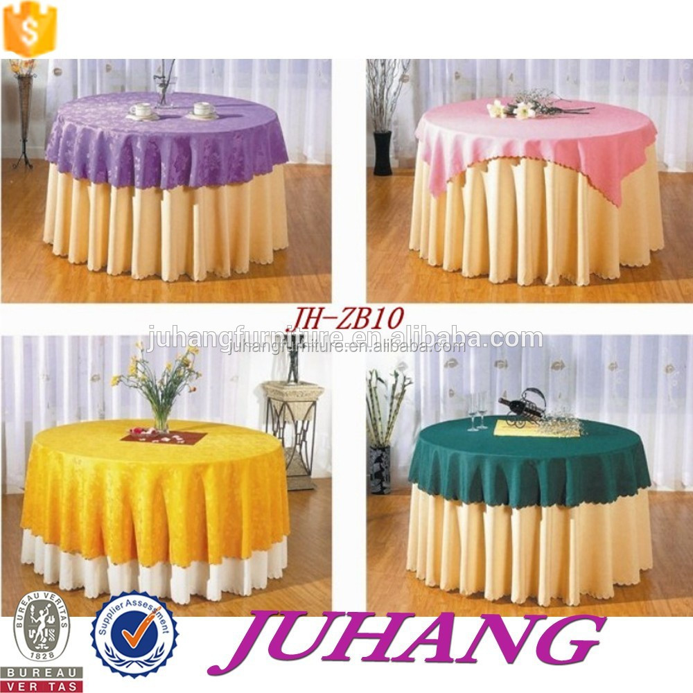 100% polyester thick high quality table cloths for banquet hotel