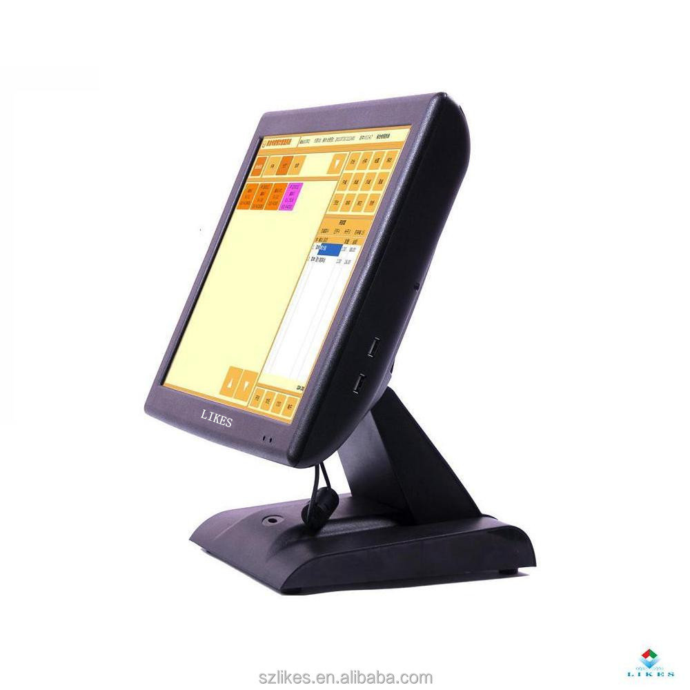 15inch desktop All in one Touch Screen POS Machine with VFD for Restaurant system