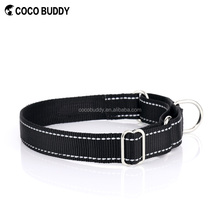 Safety Nylon Dog Collar with Reflectiv Silks Martingale Style Pet Collars