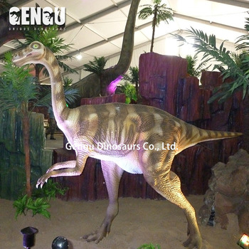 Simulation Detailed Dinosaur Struthiomimus Model